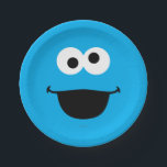 "Cookie Face Art Paper Plate<br><div class=""desc"">Guess who? It&#39;s Cookie Monster face art!    This item is recommended for ages 2 . &#169;  2014 Sesame Workshop. www.sesamestreet.org</div>"