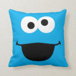 "Cookie Face Art Throw Pillow<br><div class=""desc"">Guess who? It&#39;s Cookie Monster face art!        This item is recommended for ages 2 . &#169;  2014 Sesame Workshop. www.sesamestreet.org</div>"