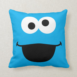 Cookie Face Art Throw Pillow