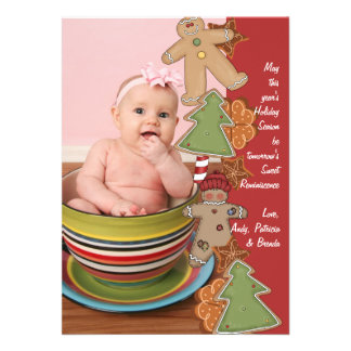 Cookie Face - Photo Holiday Card Personalized Invites