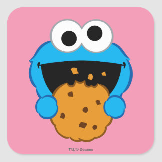 Cookie Face Square Sticker