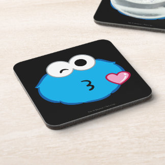 Cookie Face Throwing a Kiss Drink Coaster