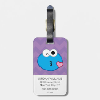 Cookie Face Throwing a Kiss Luggage Tag