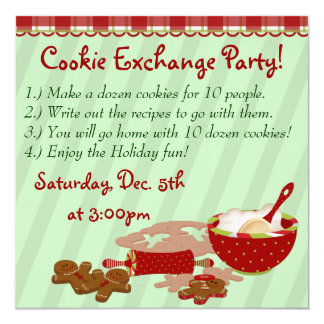 Cookie Holiday Party Personalized Invites