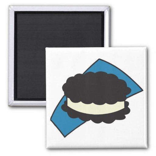 cookie ice cream sandwich magnet