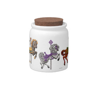 Cookie Jar - Carnival Horse Delight Candy Dish