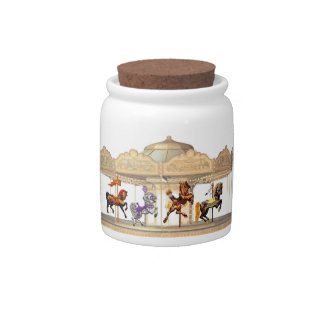 Cookie Jar - Merry Go Candy Dishes