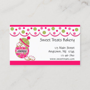 Cookies business cards templates zazzle cookie jar pink business card colourmoves
