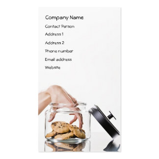 Cookie Jar Profile Card - Two--sided Double-Sided Standard Business Cards (Pack Of 100)
