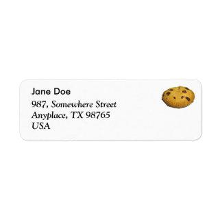Cookie Return Address Label