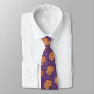 Cookie Lover - Choc Chip - Custom Color Striped Neck Tie