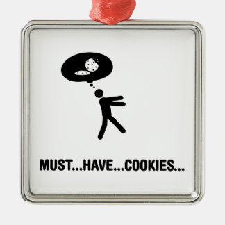 Cookie Lover Square Metal Christmas Ornament