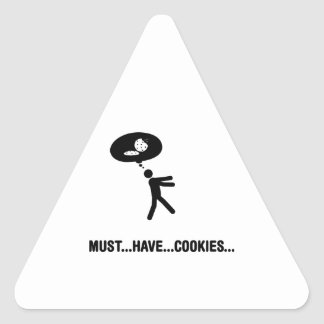 Cookie Lover Triangle Sticker