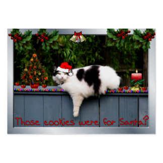Cookie Loving Cat Large Business Card
