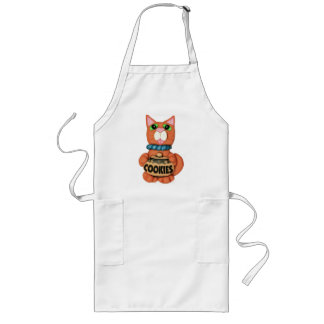 Cookie Loving Cat Long Apron