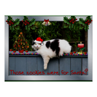 Cookie Loving Cat Posters