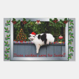Cookie Loving Cat Rectangular Sticker