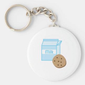 Cookie & Milk Basic Round Button Keychain