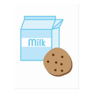 Cookie & Milk Postcard