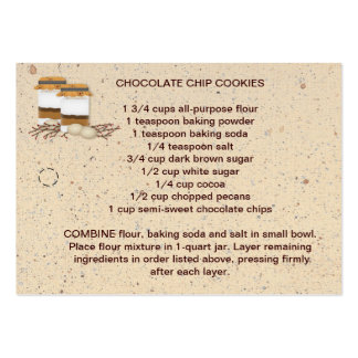 Cookie Mix In A Jar Recipe Tag Large Business Cards (Pack Of 100)