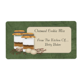 Cookie Mix Jar Label Shipping Label