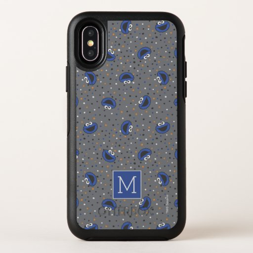 Cookie Monster | 80's Throwback Polka Dot Pattern OtterBox Symmetry iPhone X Case