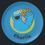 "Cookie Monster  | Add Your Name Dinner Plate<br><div class=""desc"">Cookie is proud of his cookie eating abilities!        This item is recommended for ages 2 . �  2014 Sesame Workshop. www.sesamestreet.org</div>"