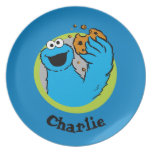 Cookie Monster  | Add Your Name Dinner Plate