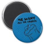 Cookie Monster - All 'Da Treats! 2 Inch Round Magnet