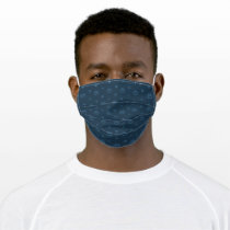 Cookie Monster and Cookies Blue Navy Pattern Adult Cloth Face Mask