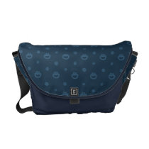 Cookie Monster and Cookies Blue Navy Pattern Messenger Bag