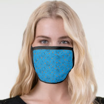 Cookie Monster and Cookies Blue Pattern Face Mask
