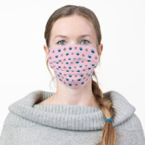 Cookie Monster and Cookies Pink Pattern Adult Cloth Face Mask