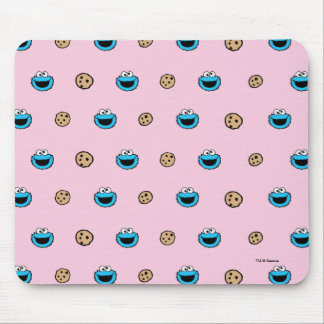 Cookie Monster and Cookies Pink Pattern Mouse Pad