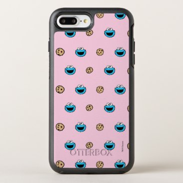 Cookie Monster and Cookies Pink Pattern OtterBox Symmetry iPhone 8 Plus/7 Plus Case
