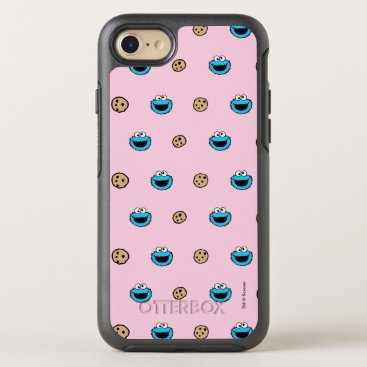 Cookie Monster and Cookies Pink Pattern OtterBox Symmetry iPhone 8/7 Case