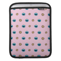 Cookie Monster and Cookies Pink Pattern Sleeve For iPads