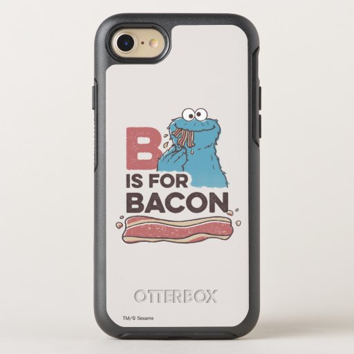 Cookie Monster | B is for Bacon OtterBox Symmetry iPhone SE/8/7 Case