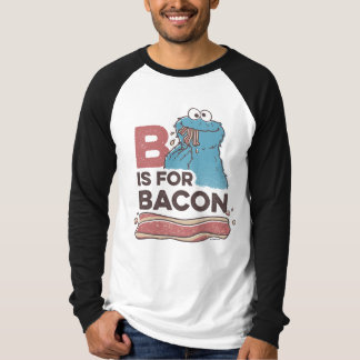 Sesame Street Shirts - Cookie Monster B is for Bacon T-Shirt