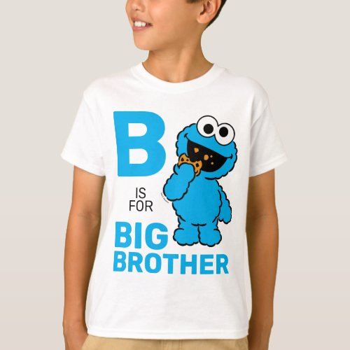 Cookie Monster  B is for Big Brother T_Shirt