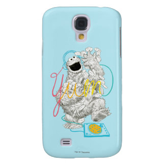 Cookie Monster B&W Sketch Drawing Galaxy S4 Case