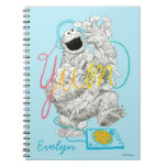 Cookie Monster B&W Sketch Drawing Notebook