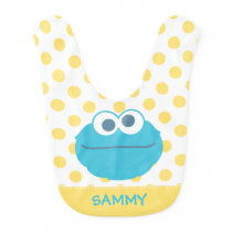 Cookie Monster Baby Big Face | Add Your Name Bib