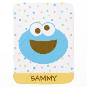 Cookie Monster Baby Big Face Receiving Blankets