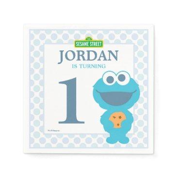 birthday Cookie Monster Baby Birthday Paper Napkins