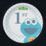 "Cookie Monster Baby Birthday Paper Plate<br><div class=""desc"">by Cookie Monster&#39;s got googly eyes for your cookies!         This item is recommended for ages 2 . &#169;  2014 Sesame Workshop. www.sesamestreet.org</div>"