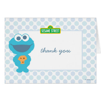 Cookie Monster Baby Birthday Thank You Stationery Note Card