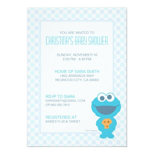 Cookie Monster Baby Shower Invite | Zazzle