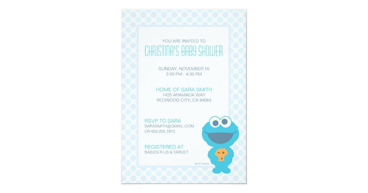 Cookie Monster Baby Shower Invite   Zazzle.com