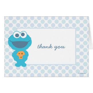 Cookie Monster Baby Shower Thank You Card